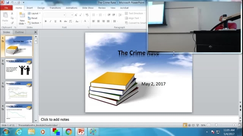 Thumbnail for entry Crime Rate: Professor Tannahill's Lecture of May 4, 2017