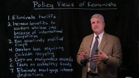 Thumbnail for entry Policy Views of Economists