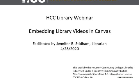Thumbnail for entry Embedding Library Videos in Canvas