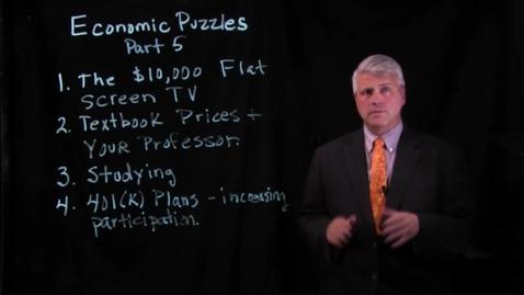 Thumbnail for entry Economic Puzzles - Part 5