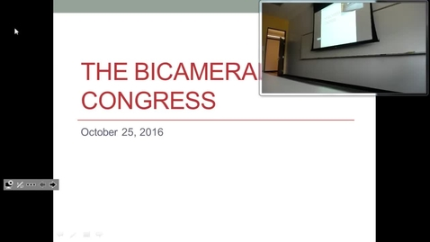 Thumbnail for entry Bicameral Congress: Professor Tannahill's Lecture of October 25, 2016