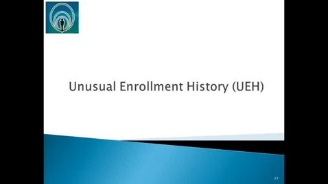 Thumbnail for entry Unusual Enrollment