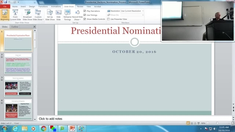 Thumbnail for entry Presidential Nomination Process: Professor Tannahill's Lecture of October 20, 2016