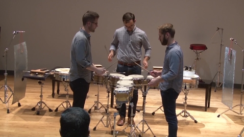 Thumbnail for entry line upon line Percussion Concert   HCC Beat