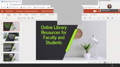 Thumbnail for entry Online Library Resources for Faculty & Students (Faculty Video Lounge)
