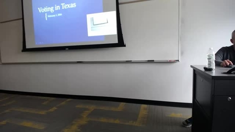 Thumbnail for entry Voting in Texas: Professor Tannahill's Lecture of February 2, 2016
