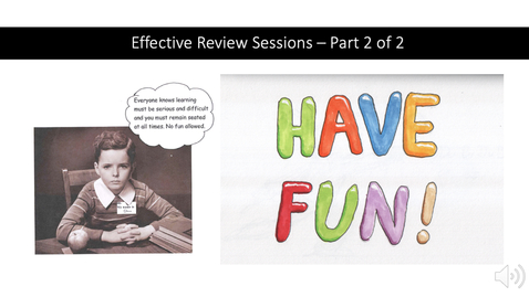 Thumbnail for entry Effective and Engaging Review Sessions - Part 2 of 2