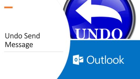 Thumbnail for entry Undo Send Message
