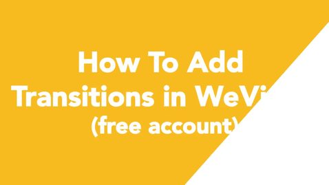 Thumbnail for entry 10 How To Add Transitions in WeVideo (free account)