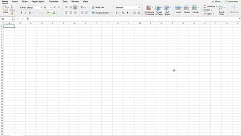 Thumbnail for entry Creating an Excel Spreadsheet
