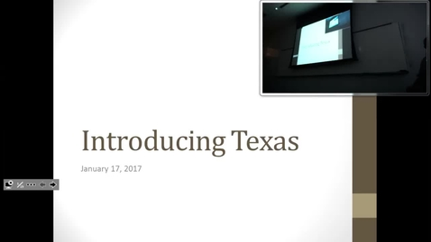 Thumbnail for entry Introducing Texas: Professor Tannahill's Lecture of January 17, 2017