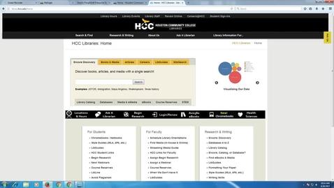 Thumbnail for entry HCC Library Demonstrates Mometrix Database_ Login#1