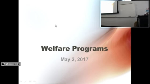 Thumbnail for entry Welfare: Professor Tannahill's Lecture of May 2, 2017
