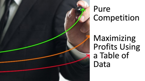 Thumbnail for entry Perfect Competition - Maximizing Profits Using a Table of Data