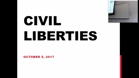 Thumbnail for entry Civil Liberties: Professor Tannahill's Lecture of Otober 3, 2017