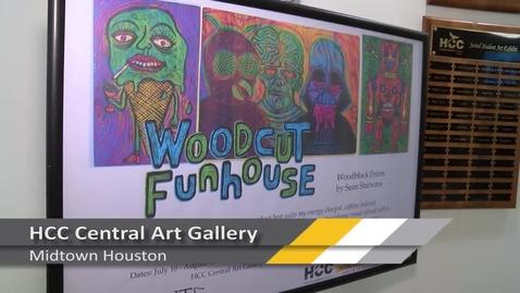 Thumbnail for entry Woodcut Funhouse Exhibit Sean Starwars PrintHouston 2017