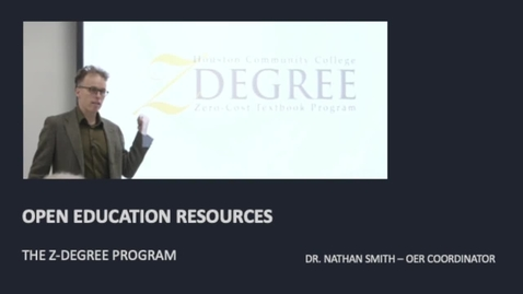 Thumbnail for entry OPEN EDUCATION RESOURCES - Z DEGREE