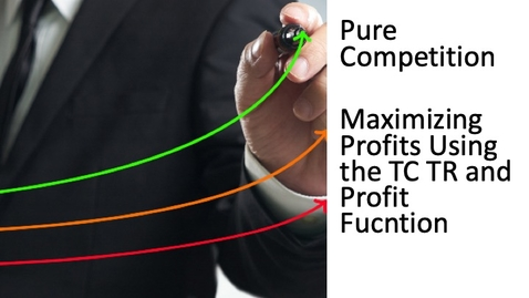 Thumbnail for entry Perfect Competition - Maximizing Profit Using the TC, TR and Profit Function.mp4