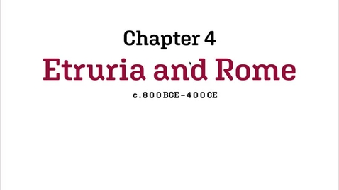Thumbnail for entry Fashion History / Etruria and Rome / 800BCE-400CE