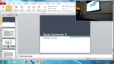 Thumbnail for entry Texas Governor II: Professor Tannahill's Lecture of February 23, 2017