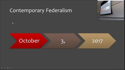 Thumbnail for entry Contemporary Federalism: Professor Tannahill's Lecture of September 28, 2017