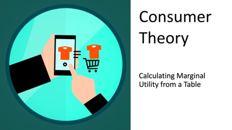Thumbnail for entry Consumer Theory - Calculating Marginal Utility from a Table