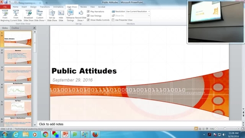 Thumbnail for entry Public Attitudes: Professor Tannahill's Lecture of September 29, 2016