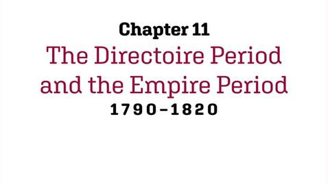 Thumbnail for entry Fashion History / The Directoire and the Empire Period / 1790-1820