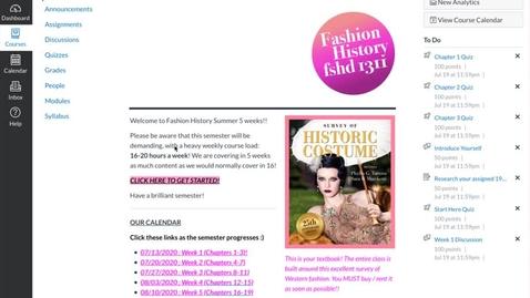 Thumbnail for entry FHOL Summer 2020 - Canvas Walk-Through