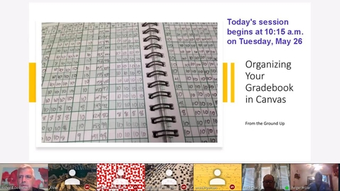 Thumbnail for entry Organizing Your Gradebook in Canvas From the Ground Up (Full_Version)