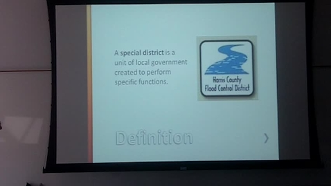 Thumbnail for entry Special Districts: Professor Tannahill's Lecture of April 8, 2014