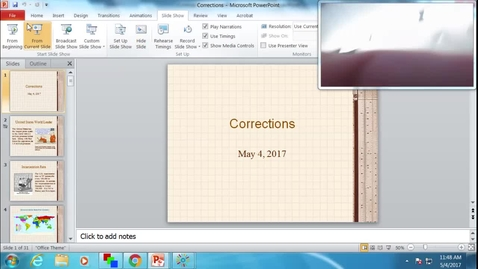 Thumbnail for entry Corrections: Professor Tannahill's Lecture of May 4, 2017