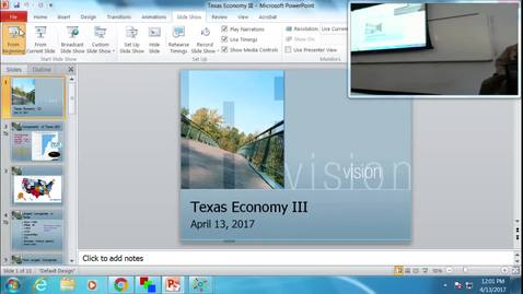 Thumbnail for entry Texas Economy III: Professor Tannahill's Lecture of April 13, 2017