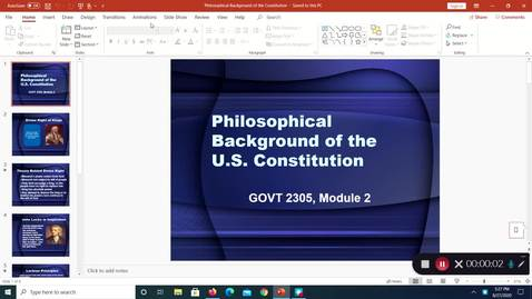 Thumbnail for entry Philosophical Backgroound of the Constitution, August 2020, 5:27:56 pm