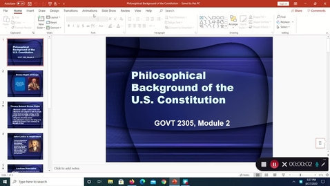 Thumbnail for entry Philosophical Background of the Constitution, August 2020, 5:27:56 pm
