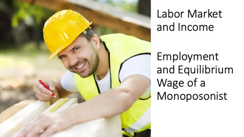 Thumbnail for entry Labor Market and Income - The Marginal Cost of Labor for a Monoposonist Employer