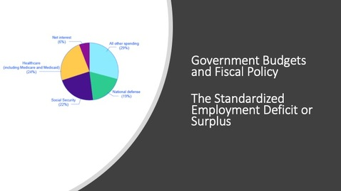 Thumbnail for entry The Standardized Employment Deficit or Surplus
