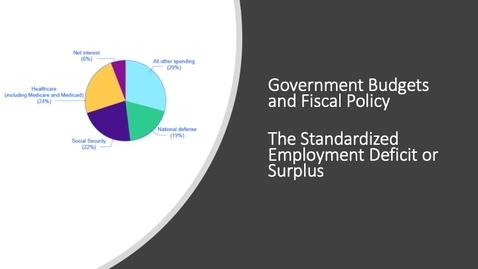 Thumbnail for entry The Standardized Employment Deficit or Surplus