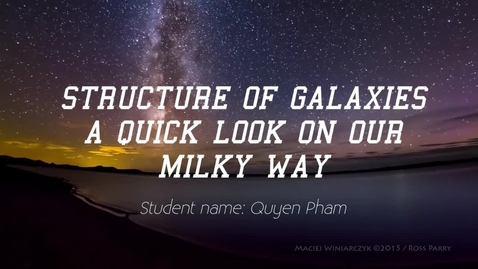 Thumbnail for entry Guyen Pham: Structure of Galaxies