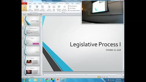 Thumbnail for entry Legislative Process I: Professor Tannahill's Lecture of October 27, 2016