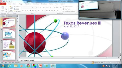 Thumbnail for entry Texas Revenues III: Professor Tannahill's Lecture of April 25, 2017