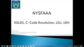 Thumbnail for entry CPS - Database Matching - C-Codes, NSLDS and LEU
