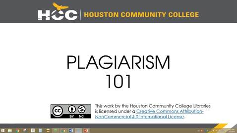 Thumbnail for entry PLAGIARISM 101 - Quiz