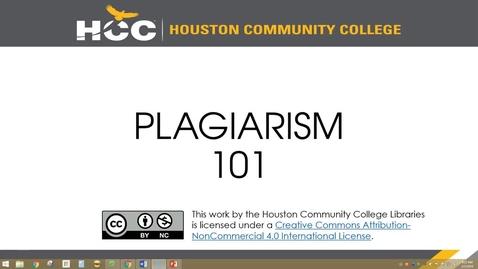 Thumbnail for entry PLAGIARISM 101 - Quiz