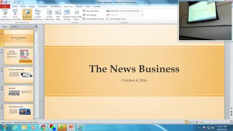 Thumbnail for entry The News Business: Professor Tannahill's Lecture of October 4, 2016