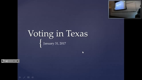 Thumbnail for entry Voting in Texas: Professor Tannahill's Lecture of January 31, 2017