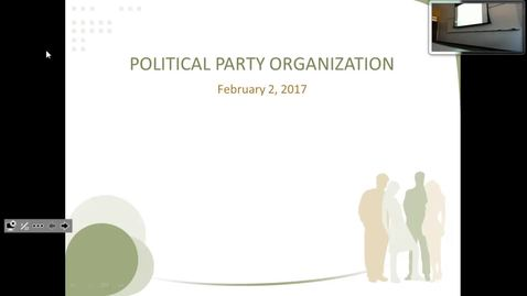 Thumbnail for entry Political Party Organization: Professor Tannahill's Lecture of February 2, 2017