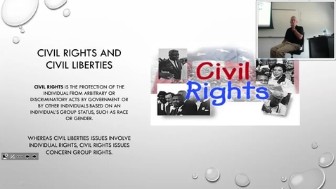 Thumbnail for entry Civil Rights Overview: Professor Tannahill's Lecture of September 22, 2016