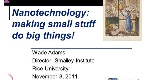Thumbnail for entry Wade Adams Presentation - Pandora's Box November 2011