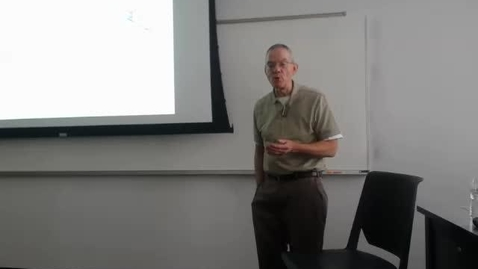 Thumbnail for entry Counties III: Professor Tannahill's Lecture of March 31, 2016